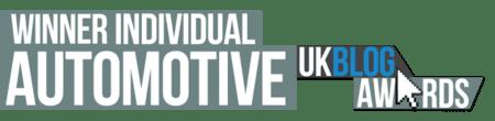 UK Blog Awards Best Automotive Blog Winner