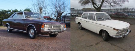 Ford Taunus V6 and BMW 2000 Auto