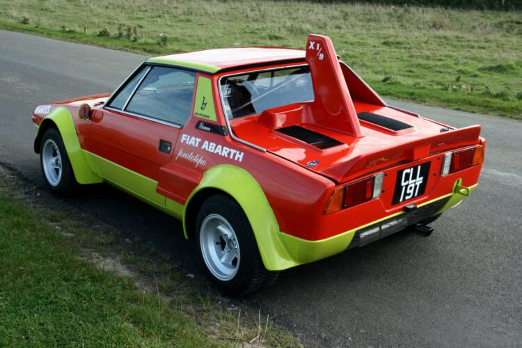 Fiat x19 Abarth from behind
