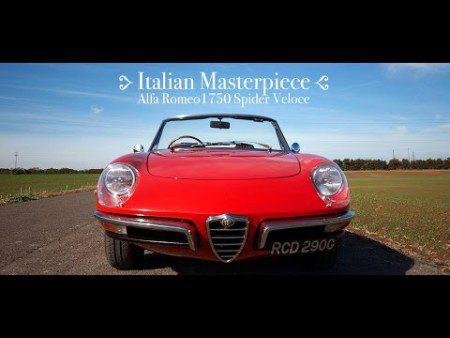 Italian Masterpiece Alfa Romeo 1750 Spider Veloce