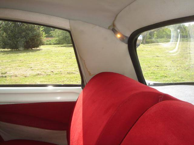 1967 Citroen DS21 rear seats.