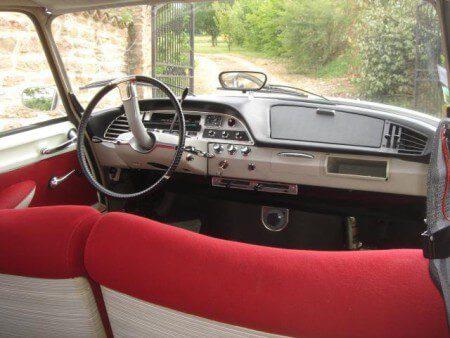 1967 Citroen DS21 interior shot showing dashboard.