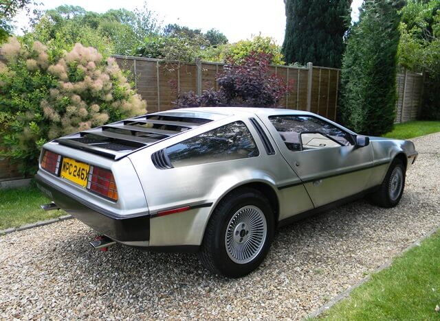 Delorean DMC-12 from behind and to the side