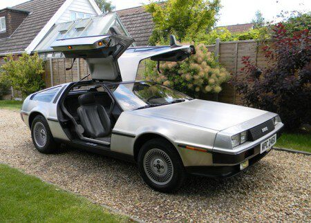 Delorean DMC-12 with gullwing doors open