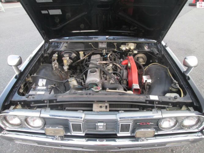 1974 Nissan Cedric GX 230 engine bay
