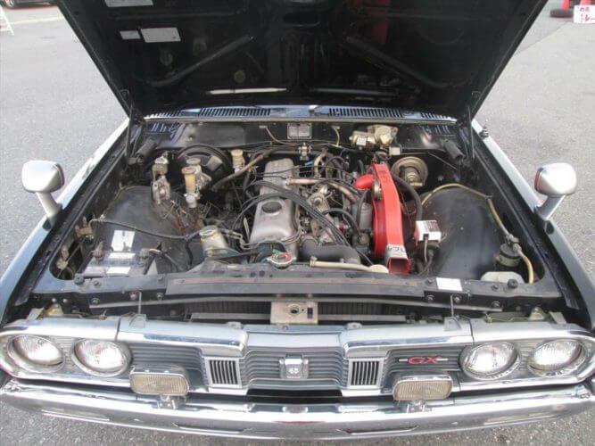 1974 Nissan Cedric GX 230 engine bay