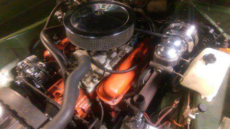 1970 Dodge Dart Swinger engine bay
