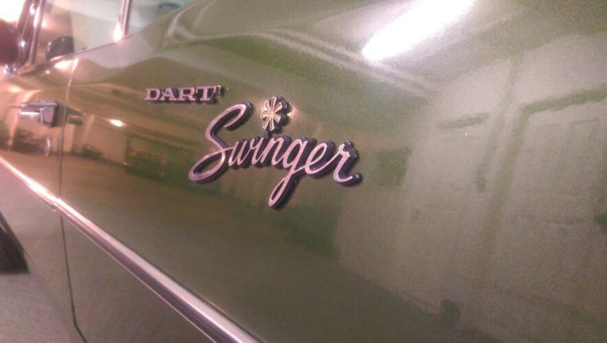 1970 Dodge Dart Swinger badge