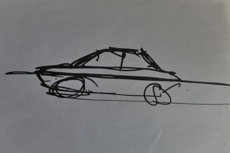 A concept sketch of the Zimp by designer Ercole Spada himself