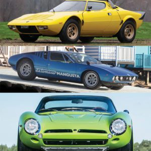 Lancia Stratos, De Tomaso Mangusta and an Iso Grifo - all on sale from RM Auctions
