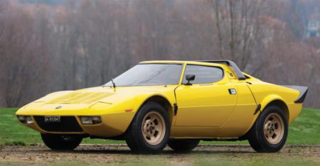Lancia Stratos HF Stradale in bright yellow