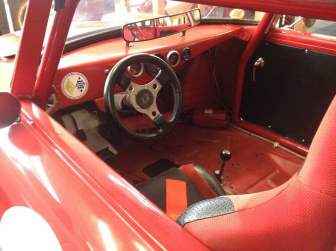 1963 Renault Caravelle racer interior