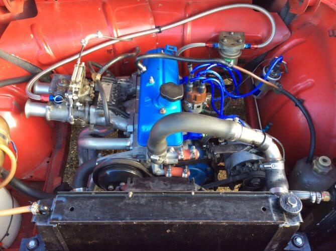 1963 Renault Caravelle racer engine bay