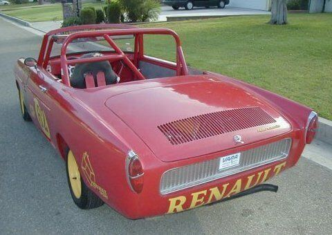 1963 Renault Caravelle racer convertible with roll cage