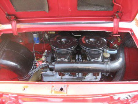 1969 NSU TT engine bay
