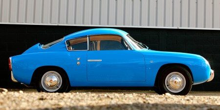 1959 Fiat 750 Gt Zagato side shot