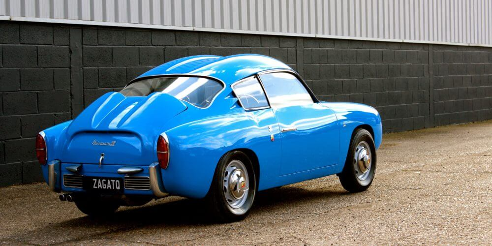 1959 Fiat 750 Gt Zagato rear shot