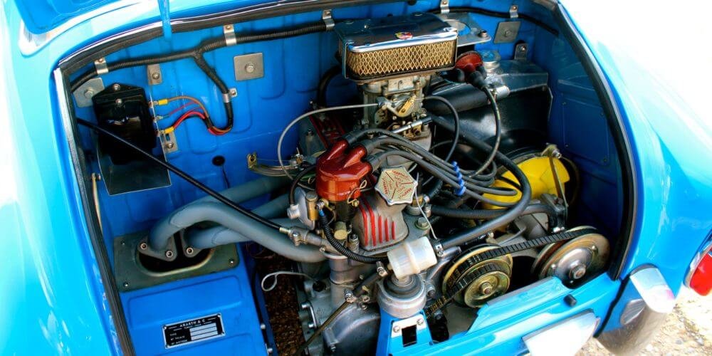 1959 Fiat 750 Gt Zagato engine bay