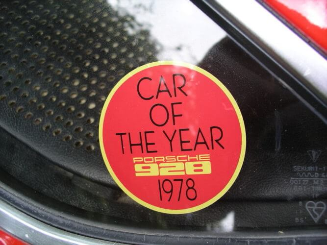 1978 Porsche 928 window sticker
