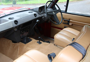1970 Range Rover chassis no 26 interior