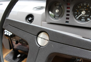 1970 Range Rover chassis no 26 steering wheel