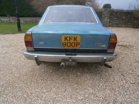 1975 Fiat 124 Coupe rear