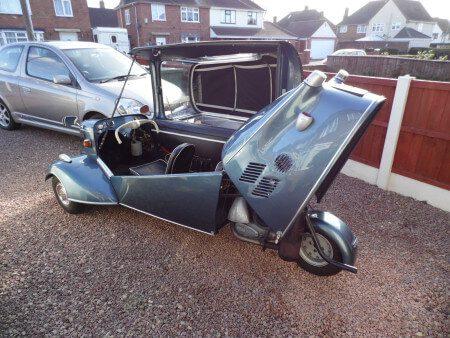 1961 Messerschmitt KR200 cabriolet canopy and engine bay open