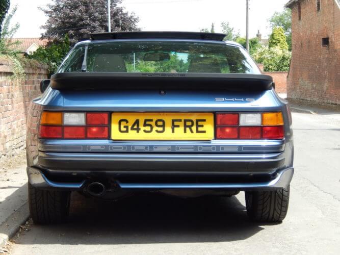 1989 Porsche 944 S2 rear shot