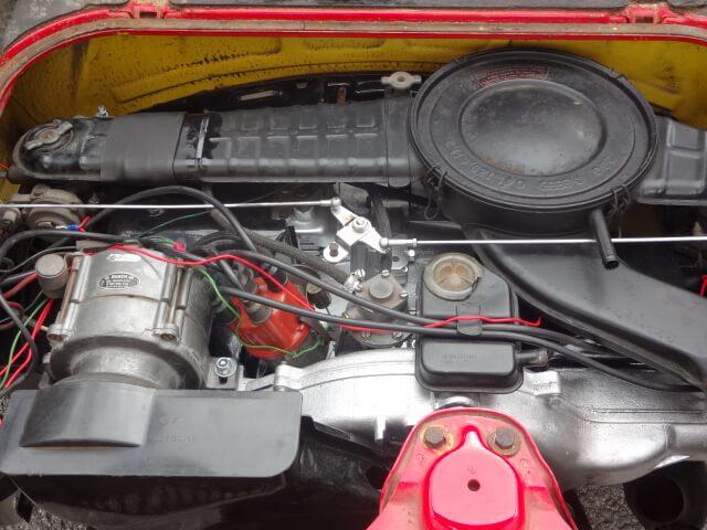 1975 Volkswagen SP2 engine bay