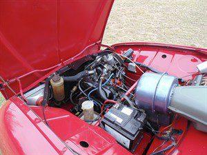 1974 Saab 96 V4 engine bay