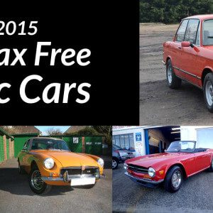 Take to the Road Budget 2015 Top 5 Tax Free Classic Cars