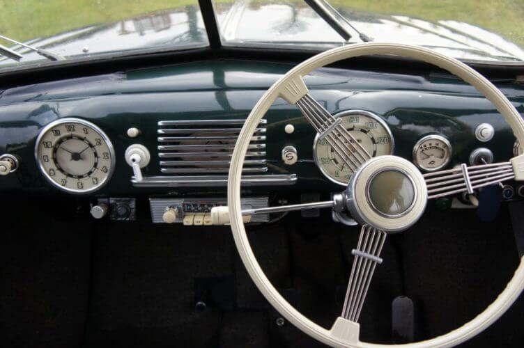 1952 Tatra T600 Tatraplan dashboard