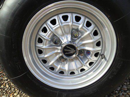 1970 Maserati Indy Borrani wheel