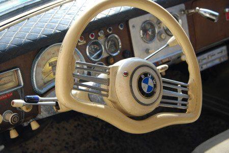 1955 BMW 502 steering wheel