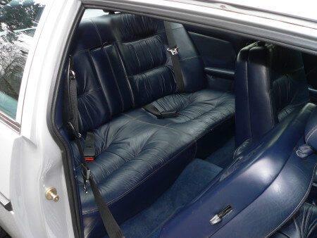 1985 Bitter SC rear seats