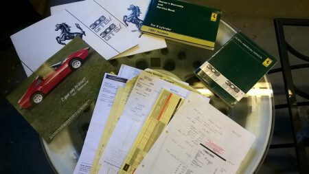 Ferrari 308 GTSi owners documents
