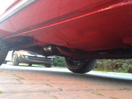 1973 Fiat 124 Sport Coupe underside