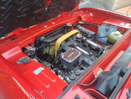 1973 Fiat 124 Sport Coupe engine bay