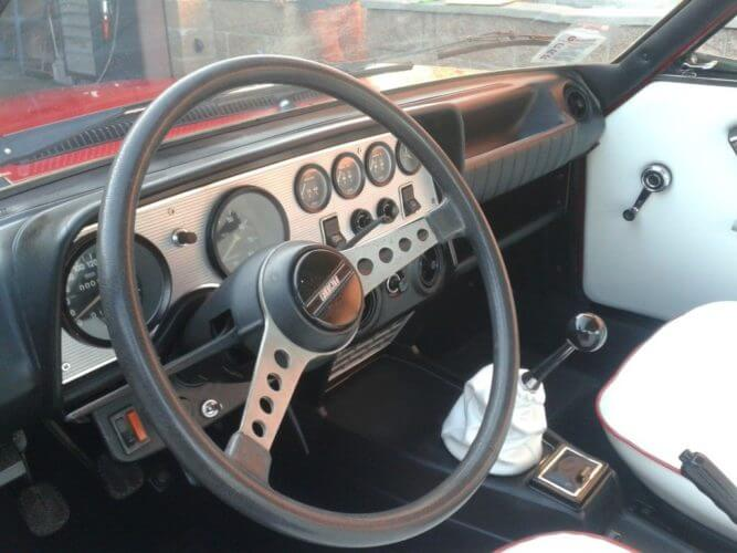 1973 Fiat 124 Sport Coupe dashboard