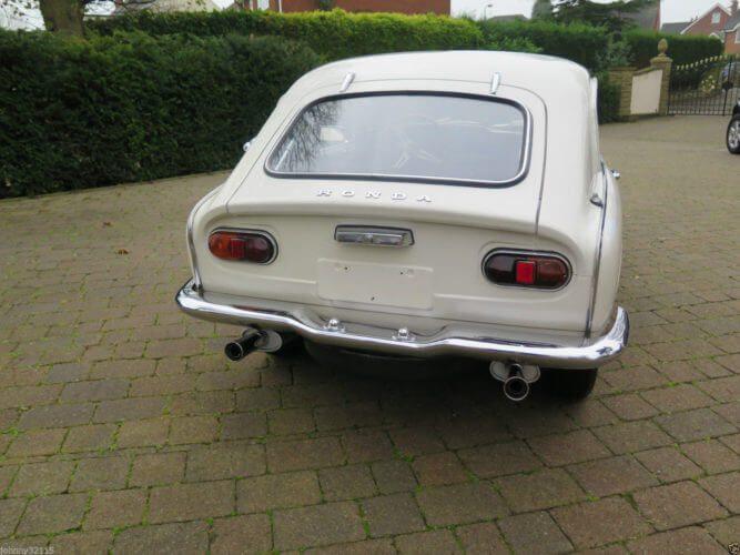 1969 Honda S800 Coupe rear shot