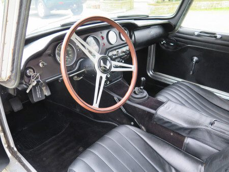 1969 Honda S800 Coupe interior