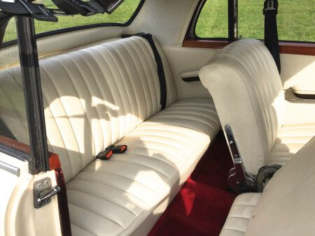 1959 Mercedes 220s Coupe rear seats