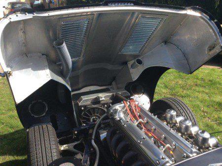 1962 Jaguar E-Type Series 1 Lightweight Recreation engine bay