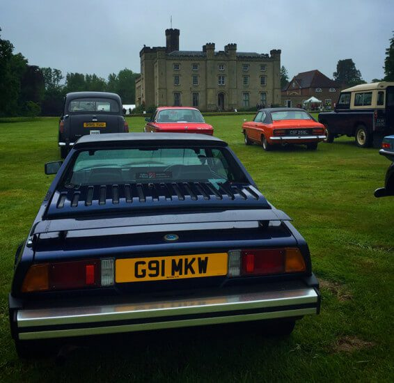 Bertone x1/9 Gran Finale at Chiddingstone Castle on the London to Brighton Classic Car Run