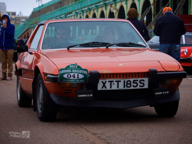 Fiat x1/9 1300 at the London to Brighton Classic Car Run