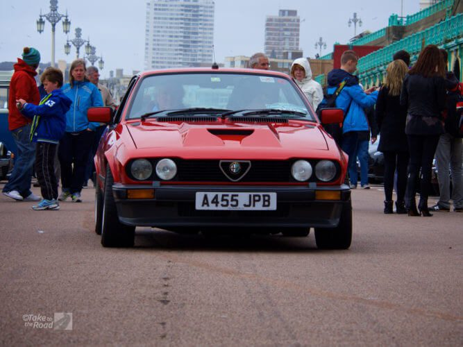 Alfa Romeo GTV at the London to Brighton Classic Car Run