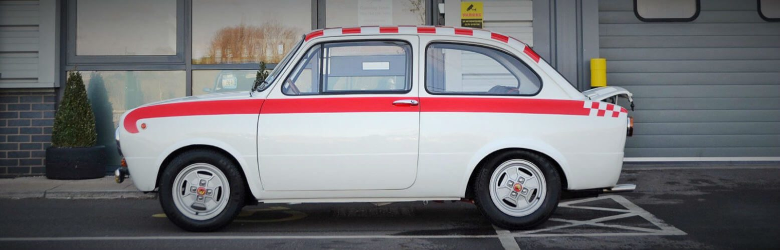 1969 Fiat 850 Abarth recreation side profile