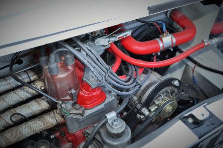 1969 Fiat 850 Abarth recreation engine bay