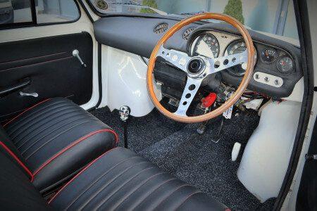 1969 Fiat 850 Abarth recreation interior