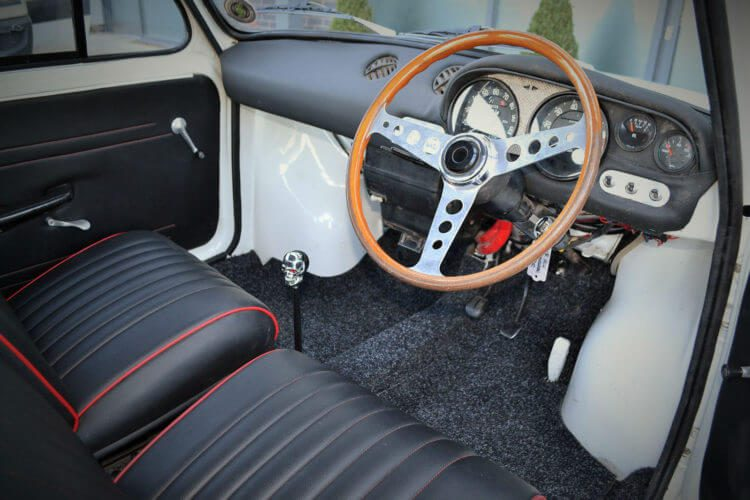 1969 Fiat 850 Abarth recreation interior